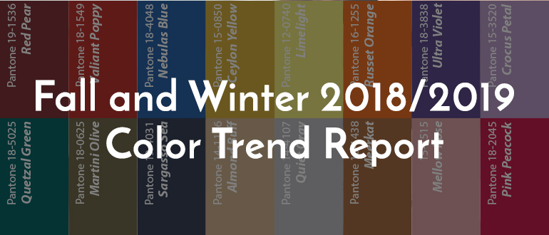 Color Trends Fall & Winter 2018/19